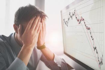 Trading Fehler - verzweifelter Mann